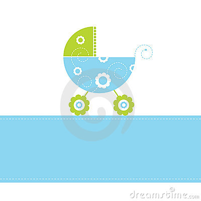 Free Baby Boy Arrival Card Royalty Free Stock Image - 6957856