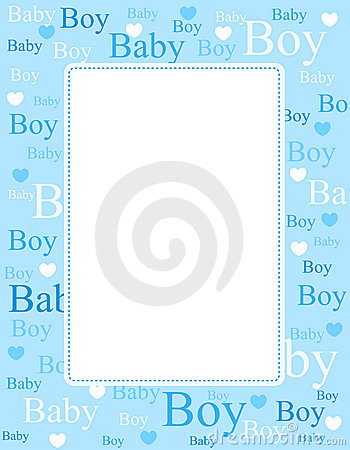 Free Baby Boy Arrival Card / Background Stock Photography - 17257262