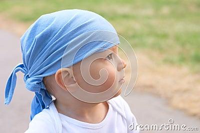 Baby boy in bandanna