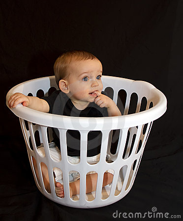 Baby Boy In A Basket
