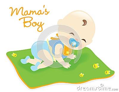 Baby boy on blanket