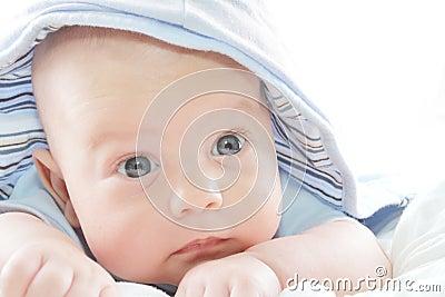 Baby Boy in Blue Hoodie