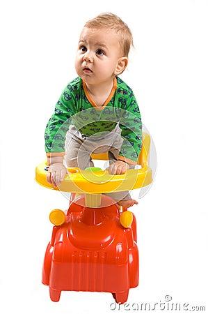 Baby-boy in a car