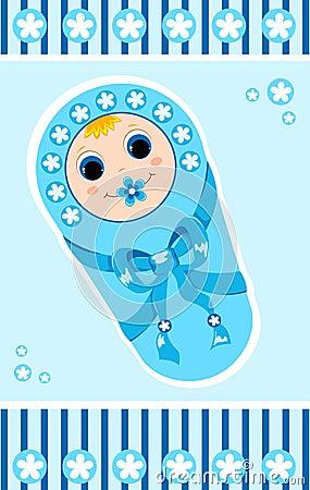 Baby boy card 1.