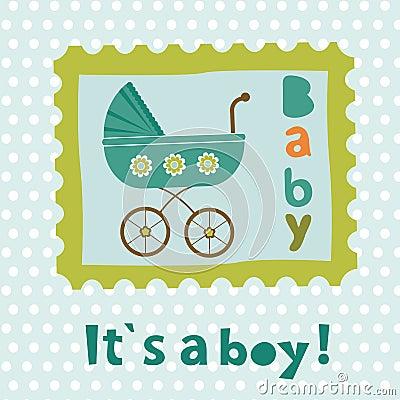 Free Baby Boy Card Stock Image - 50556101