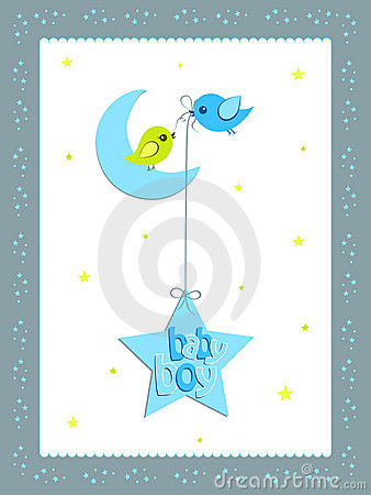 Baby boy card design