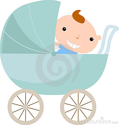 Baby boy in carriage