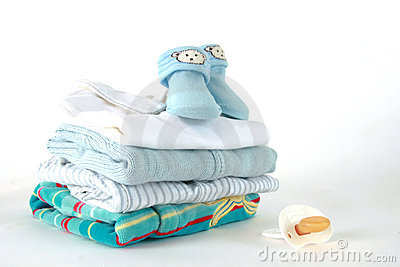 Baby Clothes Boys on Home Royalty Free Stock Images Baby Boy