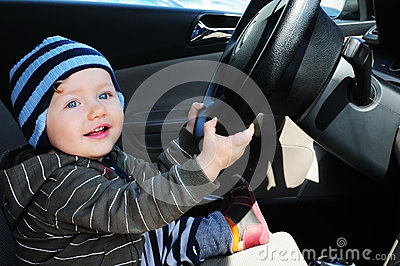 Baby boy driving