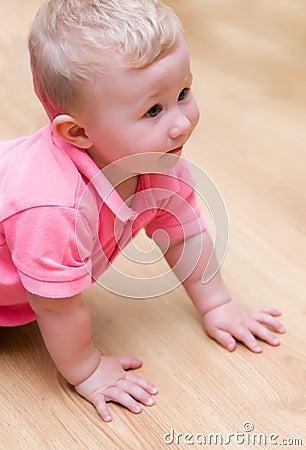 Baby boy on floor