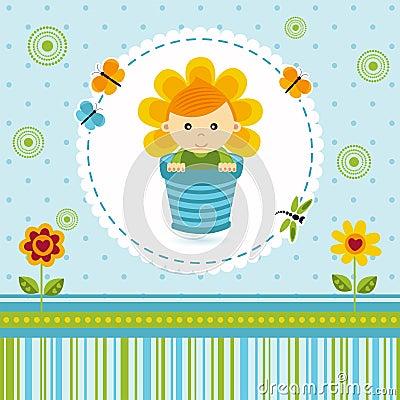 Baby boy flower