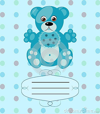 Baby boy greeting card, vector background, eps10