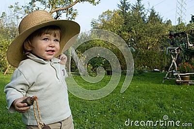 Baby boy in hat