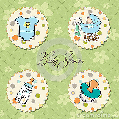 Baby boy items set