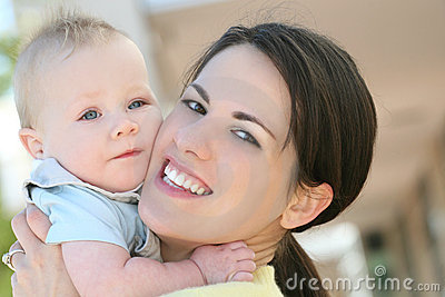 Baby Boy with Mom