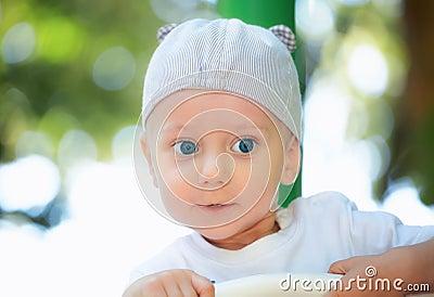 Baby boy outdoor