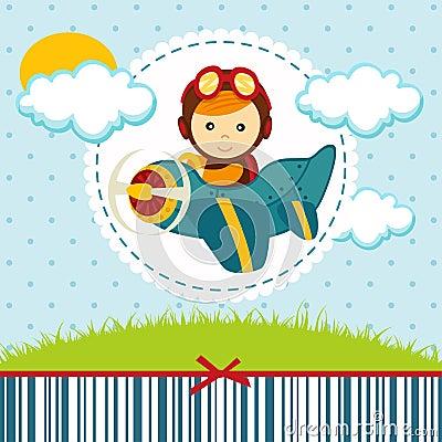 Free Baby Boy Pilot Royalty Free Stock Photo - 36732075