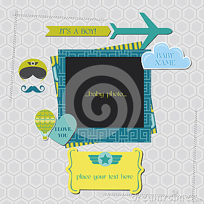 Baby Boy Shower or Arrival Card
