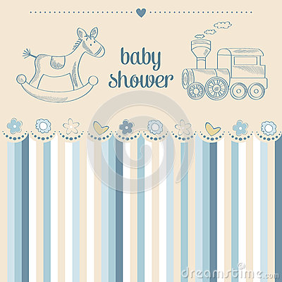 Free Baby Boy Shower Card Stock Images - 74359924