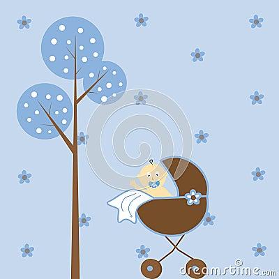 Baby Boy Stroller