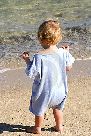 Baby Boy Walking on the Beach