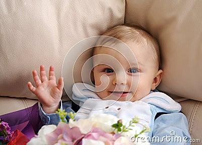 Baby Boy Waving