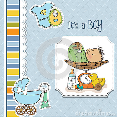 Baby boy weighed on the scale