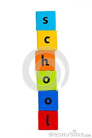Baby building blocks spelling  School