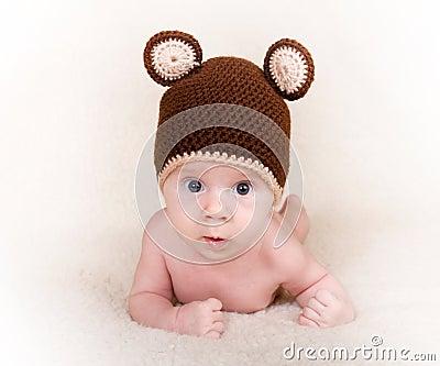Baby with cap