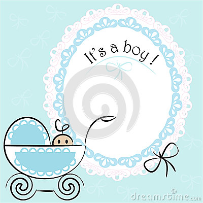 Free Baby Card - Its A Boy Theme Stock Photo - 32668200