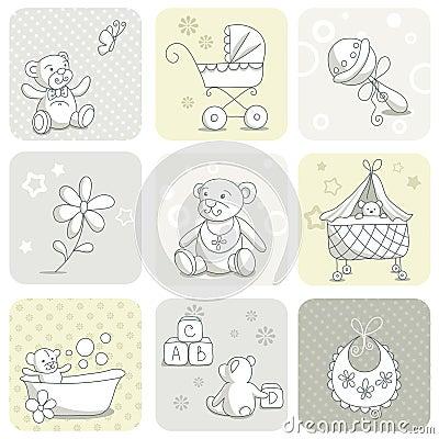 Baby card set