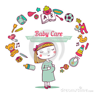 Free Baby Care Frame Royalty Free Stock Image - 51148046