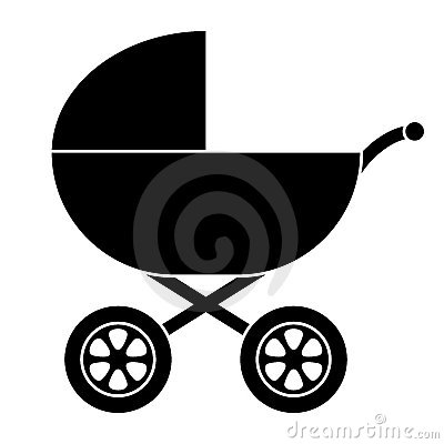 Free Baby Carriage Silhouette Stock Image - 11361871
