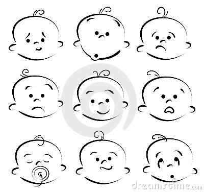 Baby Cartoon Face Royalty Free Stock Images Image 11329449