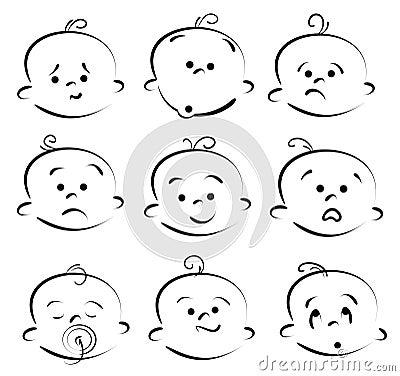 Baby cartoon face