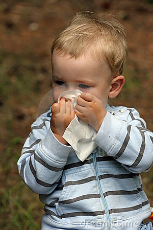 Baby with catarrh or allergy