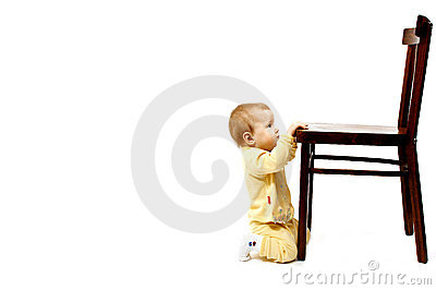 Baby and chair