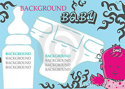 Baby, child vector background