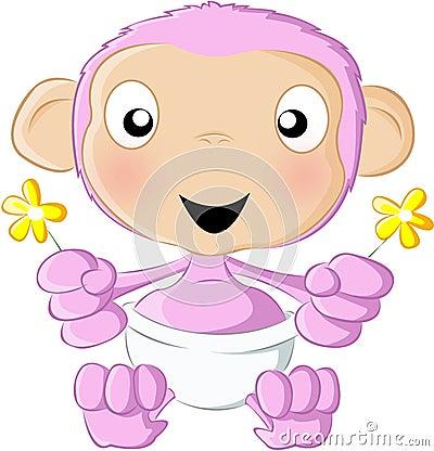 Baby chimp pink