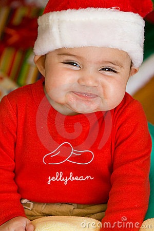 Baby in Christmas Cloths