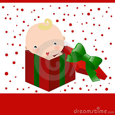 Baby and christmas gift box