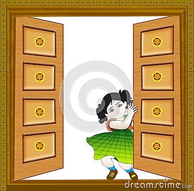 Baby close the door