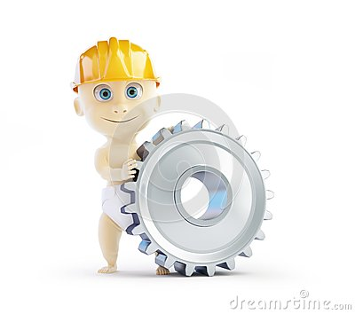 Baby construction helmet gear