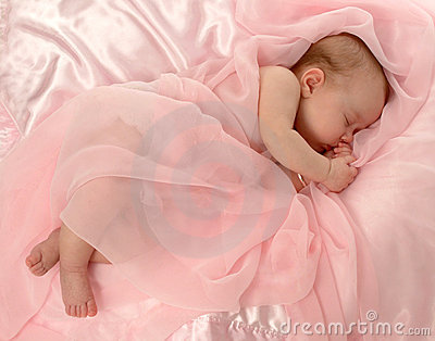 Baby Covered in Pink