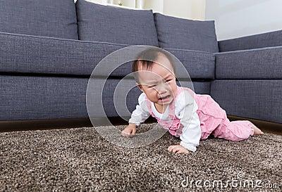 Baby crawl on floor