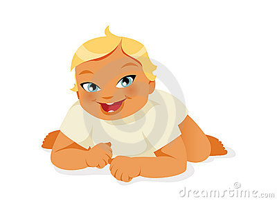 Baby crawling vector