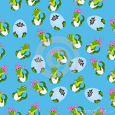Baby crocodile or alligator Vector Illustration
