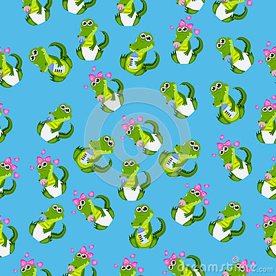 Baby crocodile or alligator Vector Illustration