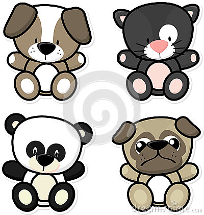 Baby cute animals Vector Illustration