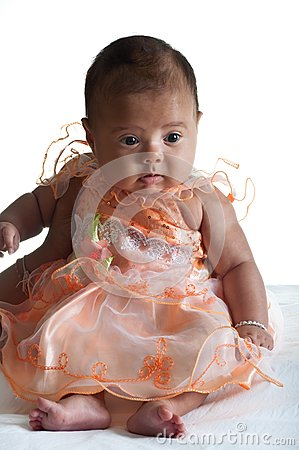 Baby in cute dress